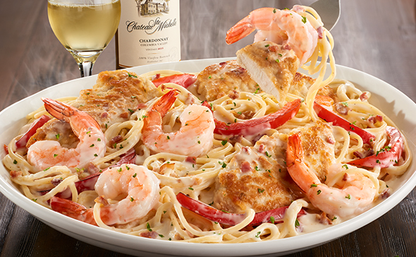 Chicken shrimp carbonara - Olive garden chicken carbonara recipe ...
